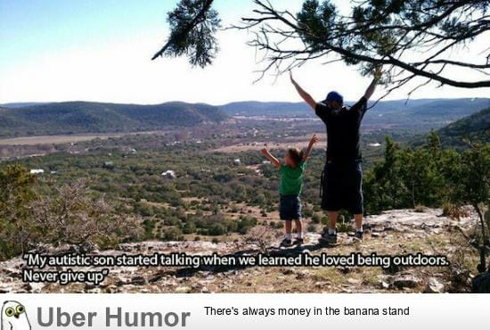 Autistic son started talking when we learned he loved being outdoors