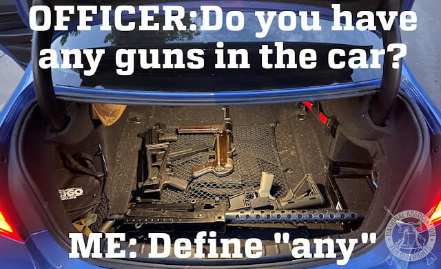 guns in your car?