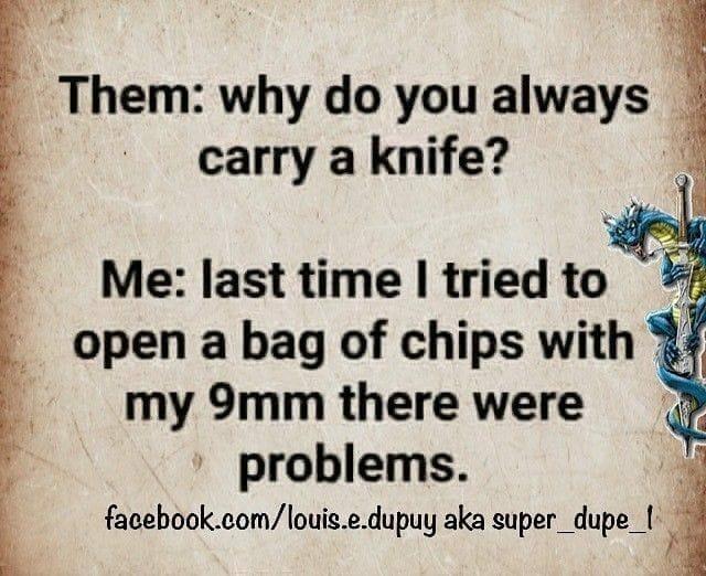 carry a knife